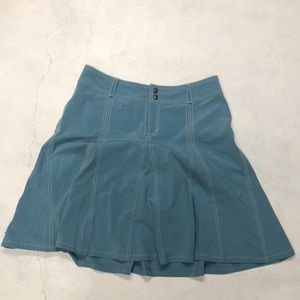 Athleta blue whatever pleated skort skirt 8